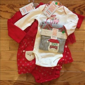 Carter's baby girl Christmas bundle newborn 3mo